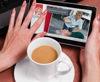 Complete selected e-learning courses on a Flash enabled tablet.