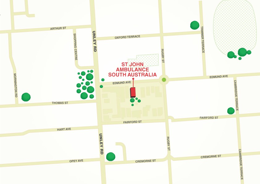Map of the 85 Edmund Avenue  Unley SA 5061 Office