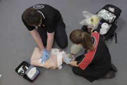 "Practical demonstration of advance resuscitation. - Right click and choose ""Save As"" to download."